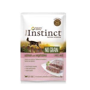 Hrana umeda pentru pisici, plic TRUE INSTINCT NO GRAIN SOMON 70 GR