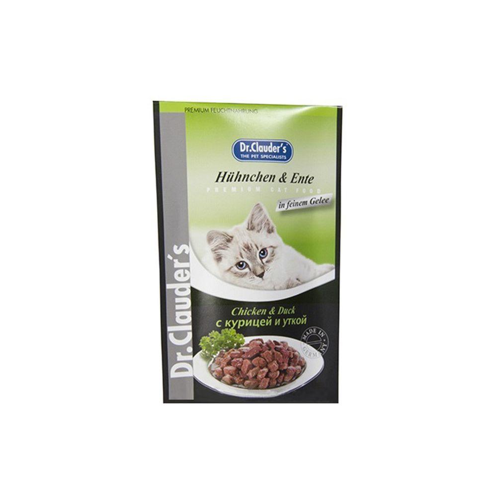 Plic Dr. Clauder's Pui si Rata 100g - pentru pisici
