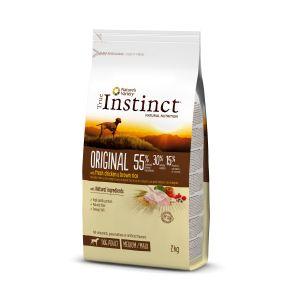 Hrana uscata pentru caini, sac TRUE INSTINCT ORIGINAL medium/maxi adult, pui