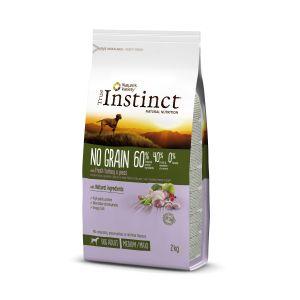 Hrana uscata pentru caini, sac TRUE INSTINCT NO GRAIN medium/maxi adult, curcan