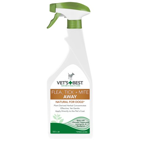 Vet's best Spray contra puricilor, capuselor si acarienilor -500 ml