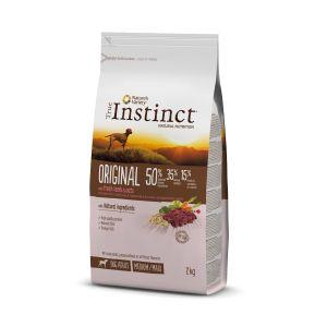 Hrana uscata pentru caini, sac TRUE INSTINCT ORIGINAL medium/maxi adult, miel
