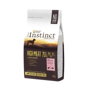 Hrana uscata pentru caini, sac TRUE INSTINCT HIGH MEAT medium/maxi adult, somon