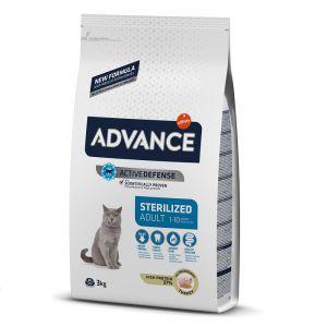 Hrana pisici Advance Sterilized Curcan 3 kg