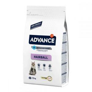 Hrana pisici Advance Hairball Curcan si Orez 1.5 kg